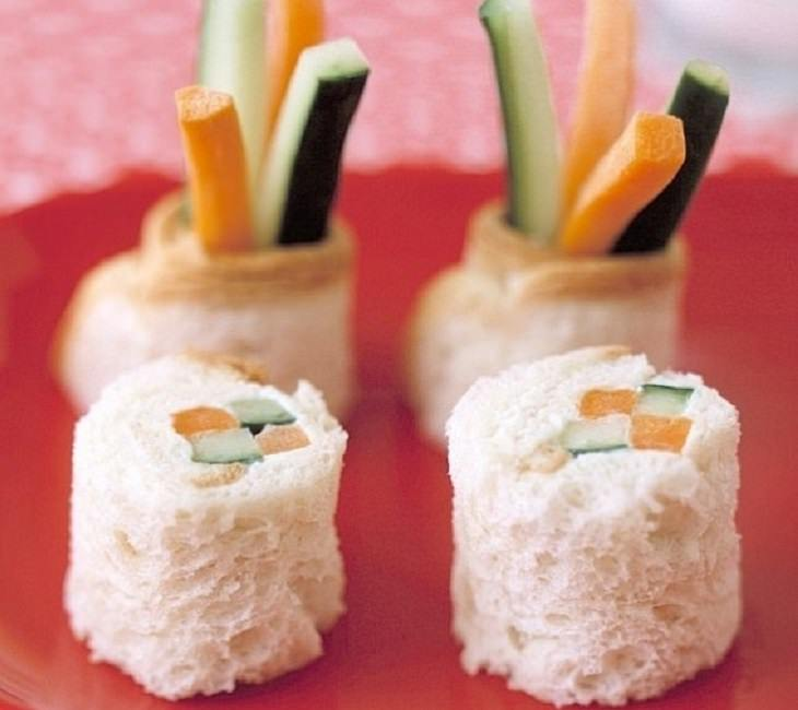 מתכון להכנת סנדויץ' סושי מלחם וירקות
