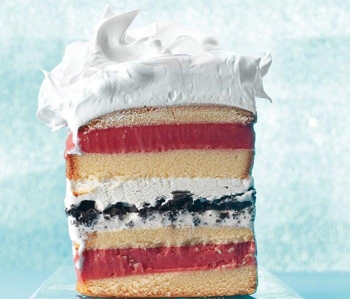 מתכון לעוגת גלידה עם 7 שכבות
