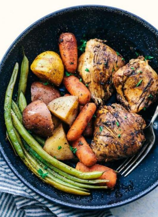 מתכון לתבשיל עוף עם ירקות בקלי קלות