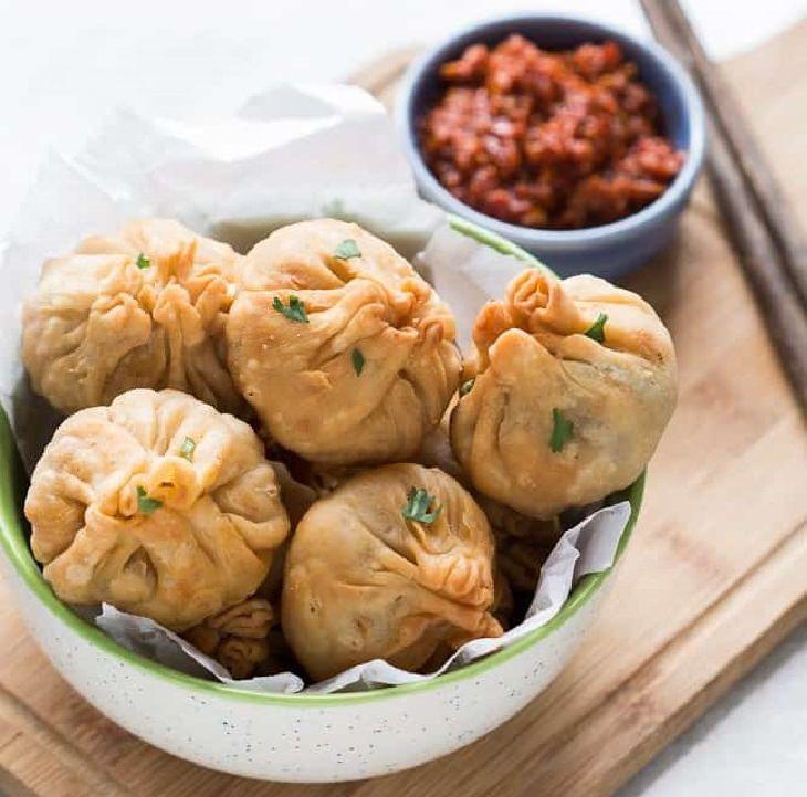 מתכון לסמוסה סינית במילוי ירקות מוקפצים