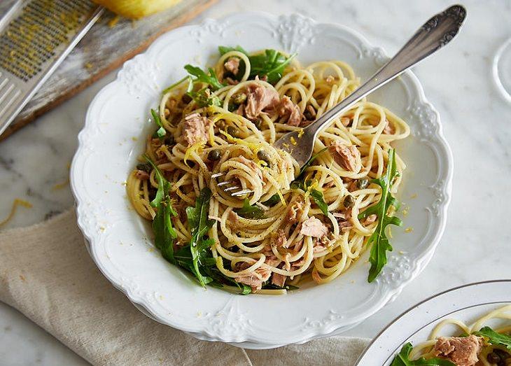מתכון לספגטי עם טונה ולימון