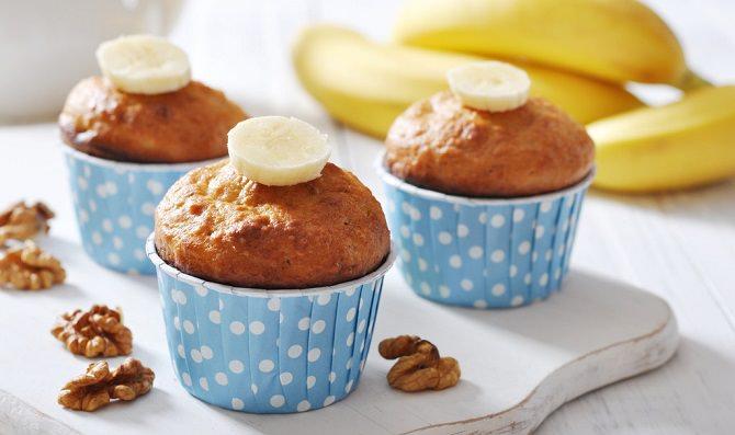 מתכון למאפינס בננות וקינמון