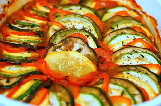 מתכון קל ללקט ירקות ביתי - רטטוי
