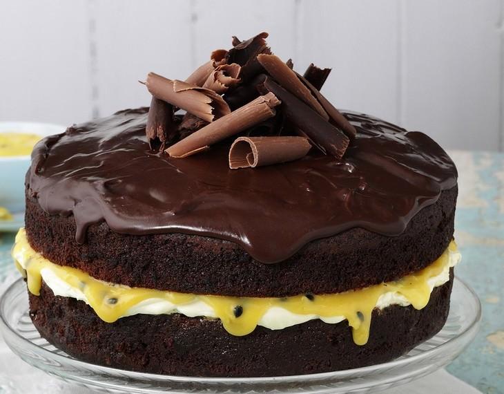 מתכון לעוגת שכבות שוקולד-פסיפלורה