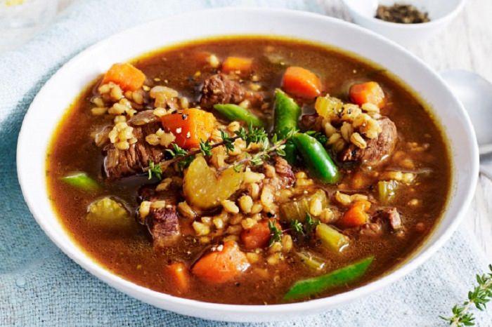 מתכון למרק בשר וגריסים
