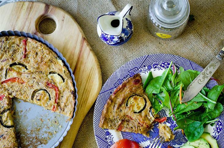 מתכון לפשטידת גבינה וירקות טבעונית של נטלי הולדינג