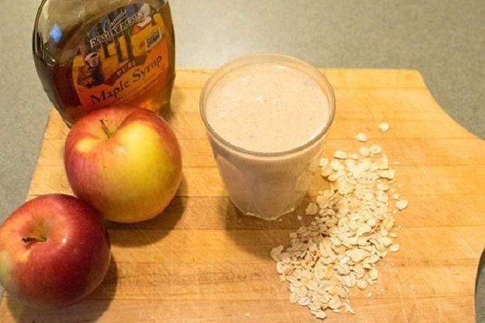 מתכון לשייק תפוח, קינמון ושיבולת שועל חם