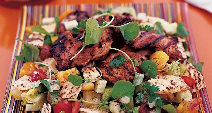 מתכון לסלט עוף לבנוני