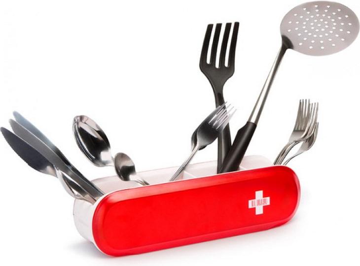מתקן ייבוש כלים בצורת אולר שוויצרי