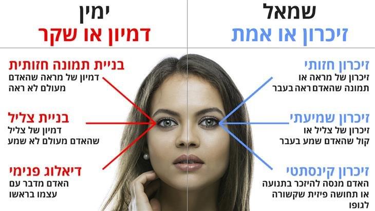 איך לדעת האם אדם משקר על פי תנועת העיניים שלו: מפת המבט