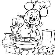 דפי צביעה: מיקי מאוס, מיני מאוס מבשל