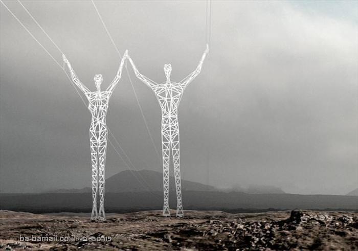 עמודי חשמל