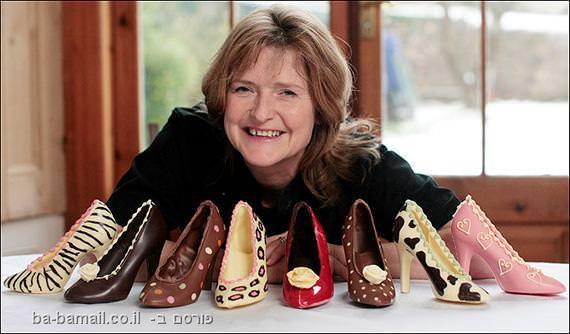 אוכל, עיצוב, שוקולד, נשים, נעליים