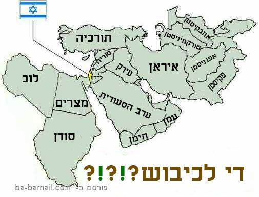 מפה, מדינות מוסלמיות, ישראל, שטחים, שלום
