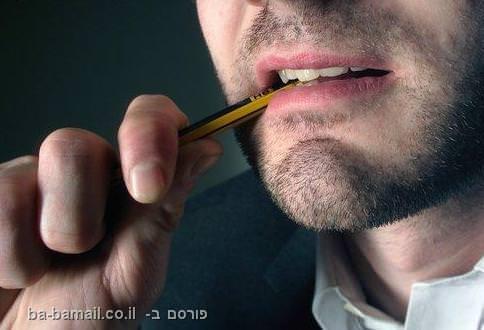 עיפרון, ללעוס, לעיסת עיפרון, פרסומות