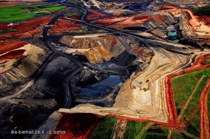פרוייקט מצלום, כדור הארץ, תמונות מהאוויר,מכרה פחם, דרום אפריקה