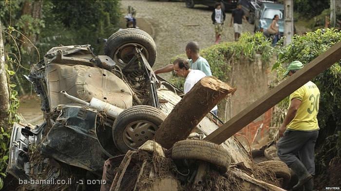 תמונות מהשטפונות בברזיל