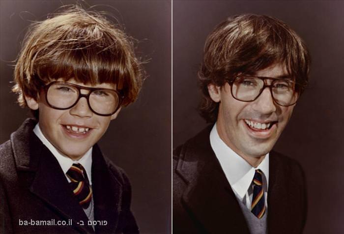 תמונות של אנשים מפעם והיום