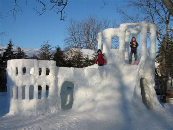 כמה חבל שאצלנו זה לא יקרה - יצירות מגניבות בשלג