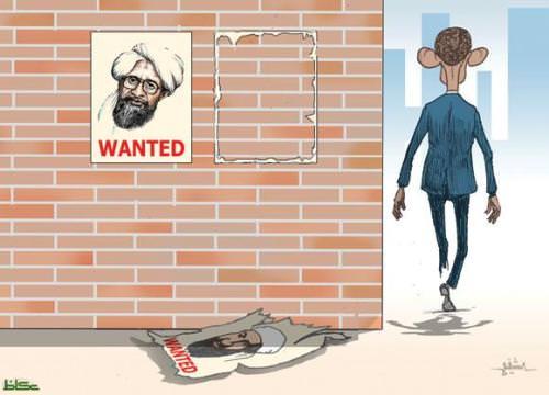 קריקטורה על חיסול בן לאדן