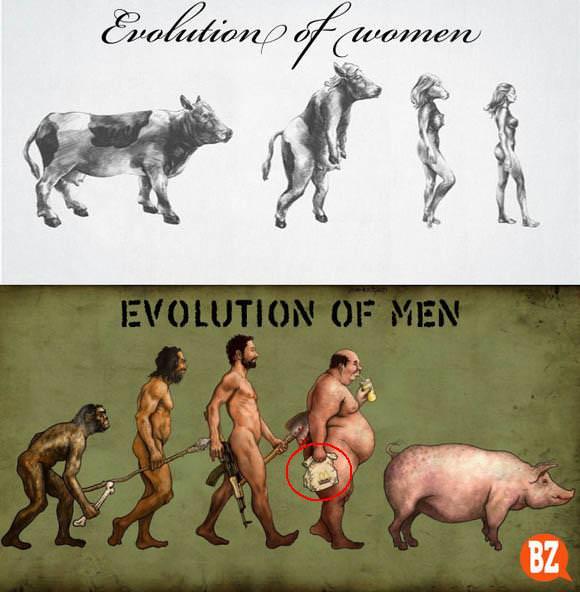 אבולוציה של גברים ונשים