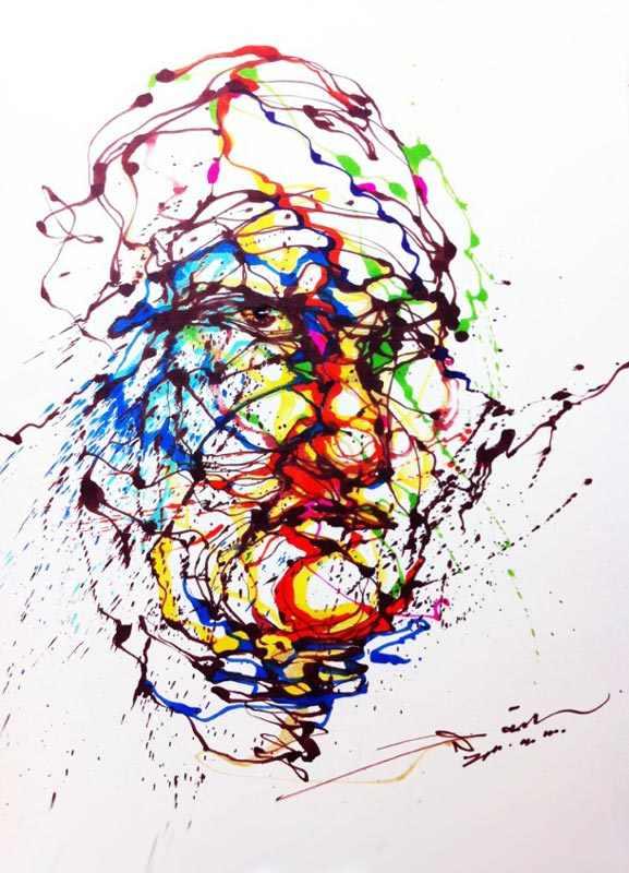 ציורים מדהימים בשיטת השפרצה