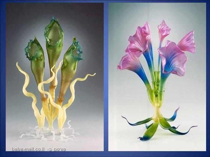 עיצובים מדהימים מזכוכית