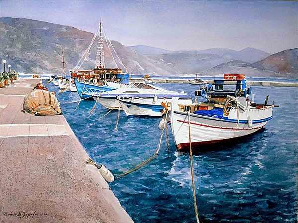 יוון בצבעי מים - גלויות יפהפיות!