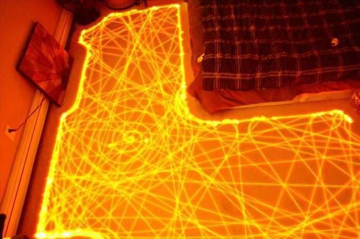 צילומים בחשיפה ארוכה של רובוט רומבה