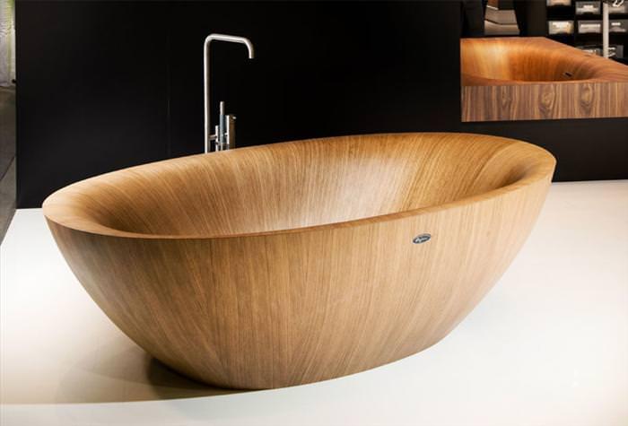 אמבטיות מעץ בעיצובים מדהימים