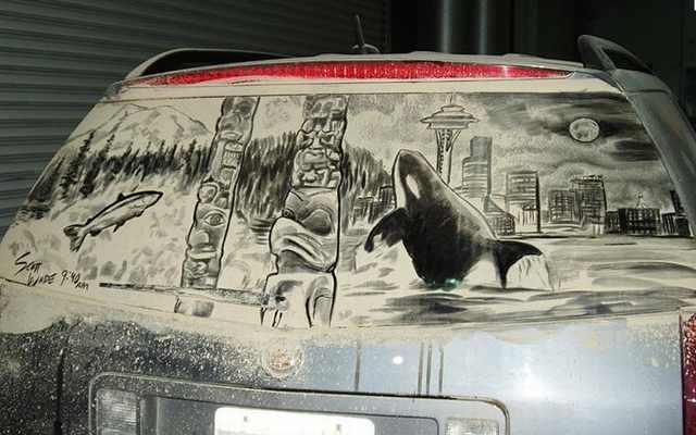 מכונית מאובקת