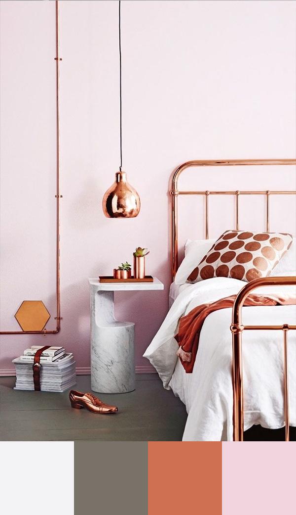 שילובי צבעים בחדר השינה