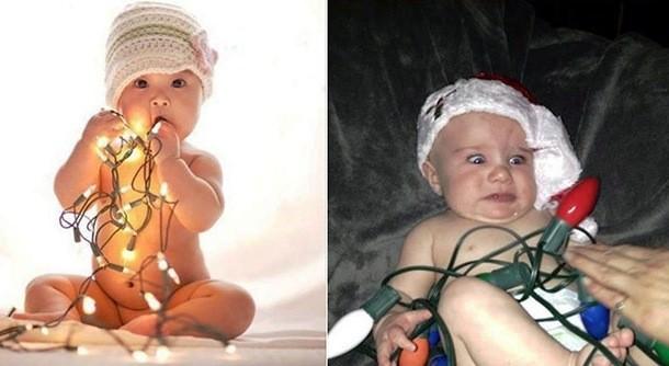 תינוקות בפרסומות ביחס למציאות