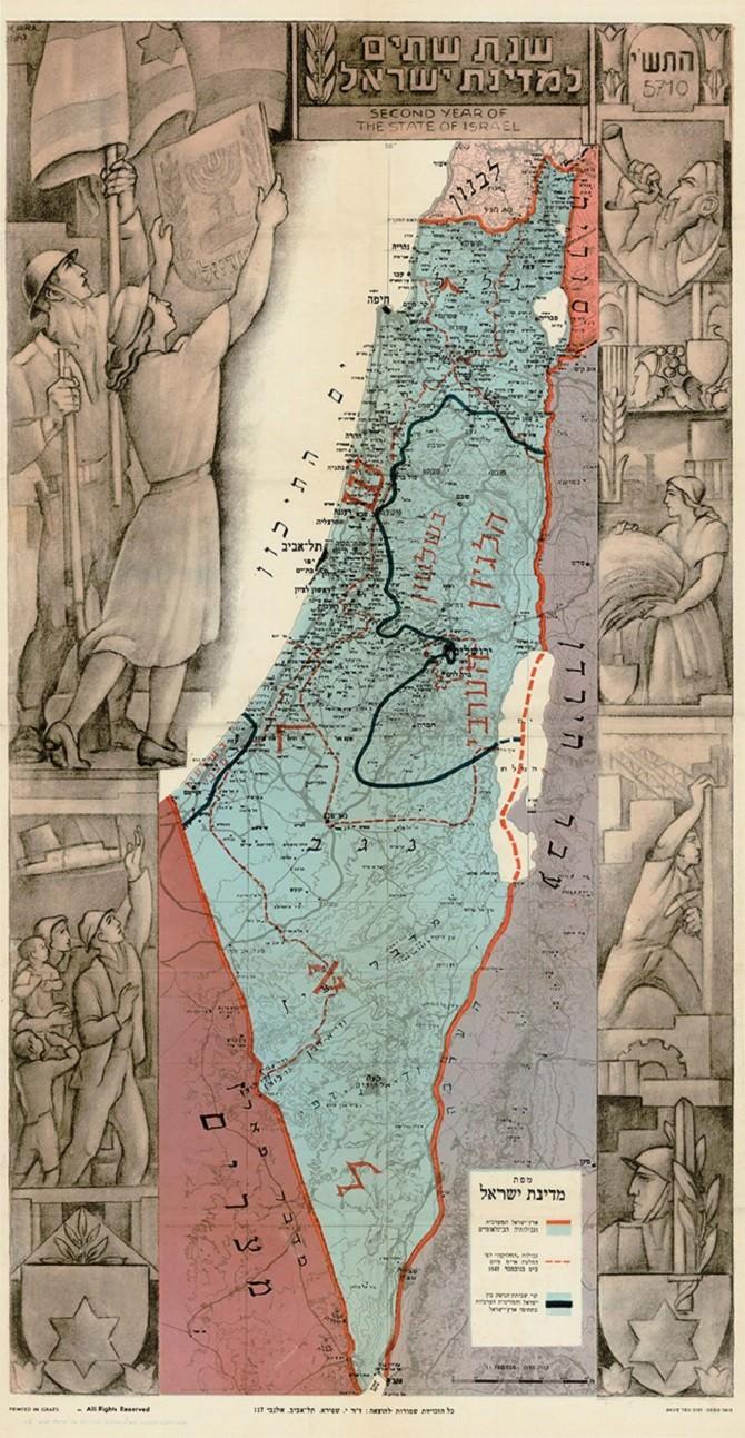 מפת שנתיים לישראל