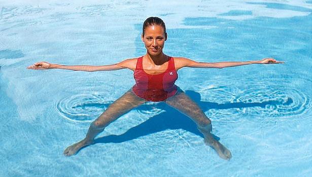אימון כושר בבריכה