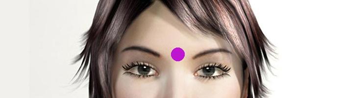 נקודות לחיצה לחידוד הזיכרון והריכוז: נקודת העין השלישית