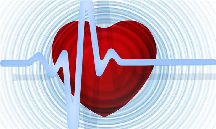 לב ומולו קו שמסמל דופק