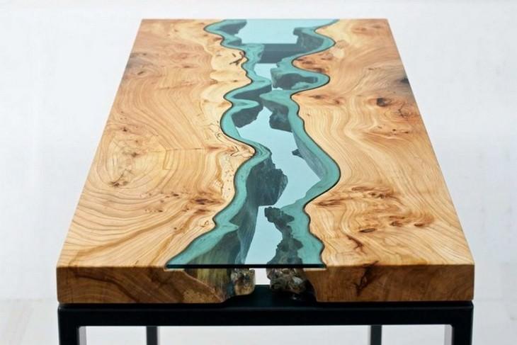 שולחן נהר הטורקיז