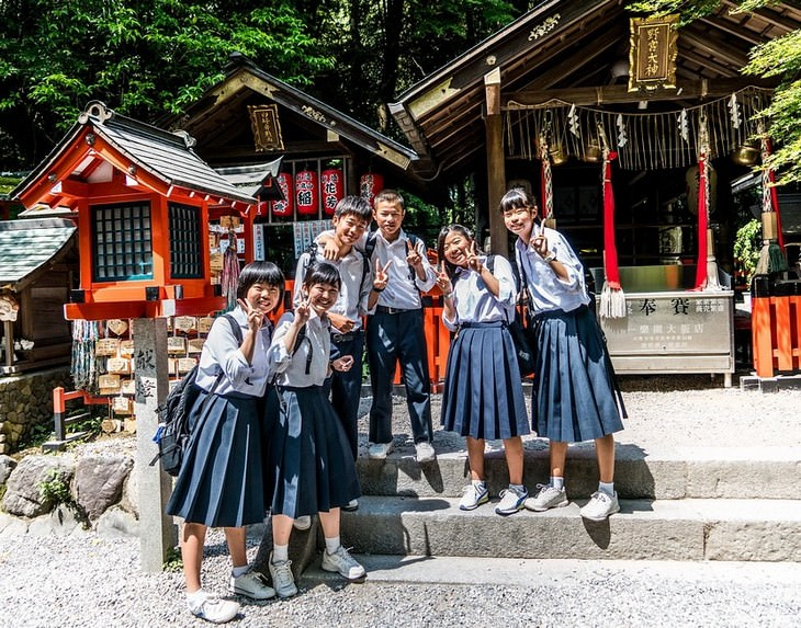 תלמידים יפניים