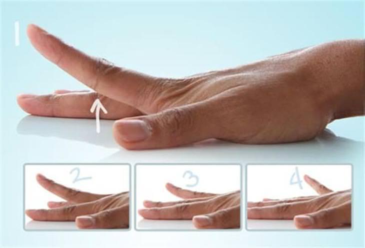 אימונים לחיזוק כפות הידיים: תרגיל הרמת אצבעות