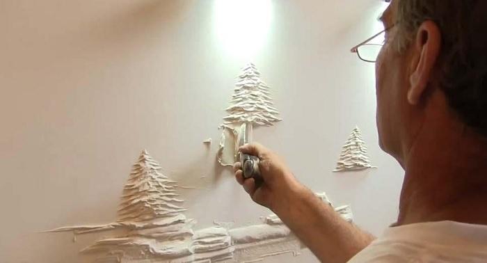 אומנות בקירות גבס