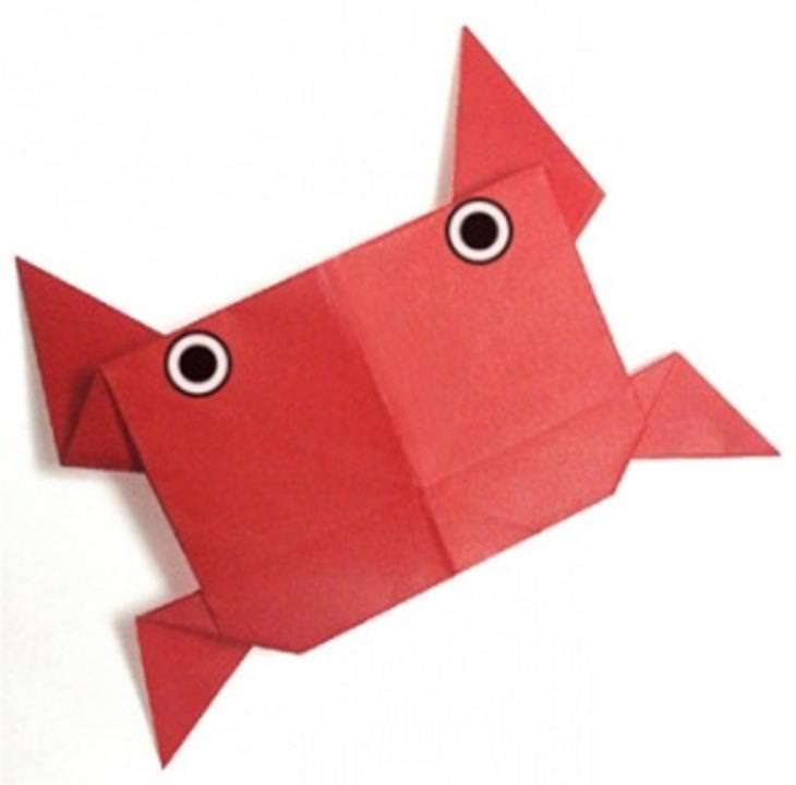 רעיונות מדליקים ליצירת אוריגמי: סרטן באוריגמי