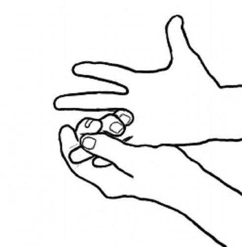 ריפוי באמצעות תנועות הידיים: תפיסת הקמיצה והזרת יחדיו