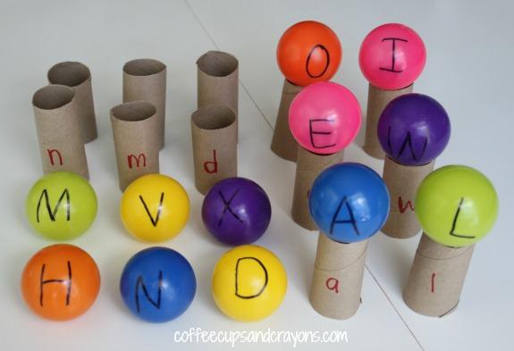 פעילויות חינוכיות לילדים: משחק התאמת אותיות דפוס וכתב