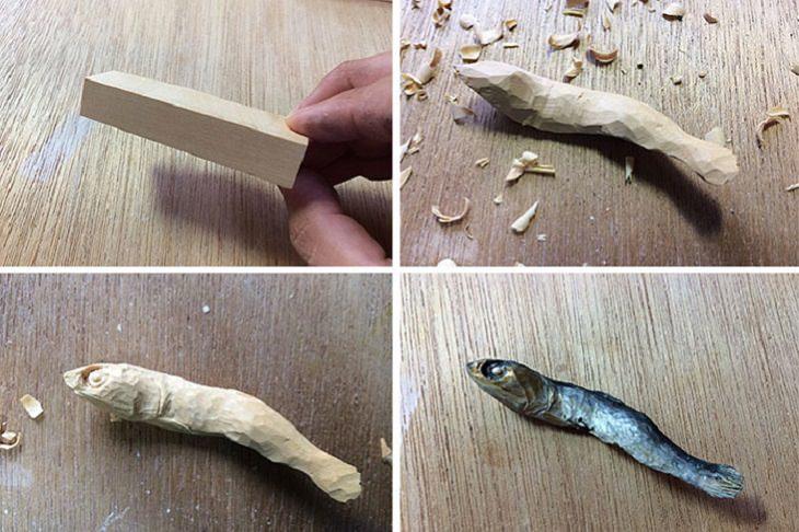 מאכלים שעשויים מעץ