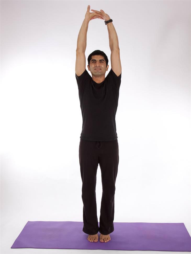 תרגילי יוגה להורדה במשקל - תנוחת הר