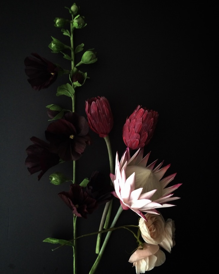 פרחים מנייר של קייט אלקרון