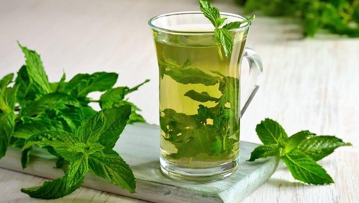 משקאות לטיפול בגזים: כוס מי נענע