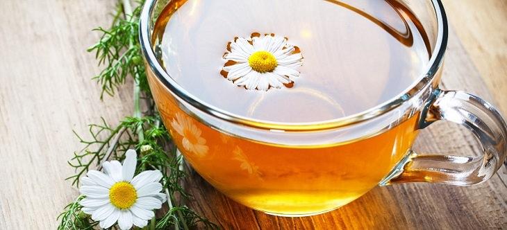 משקאות לטיפול בגזים: תה קמומיל
