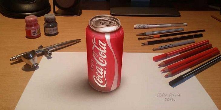 פחית קוקה קולה בתלת ממד